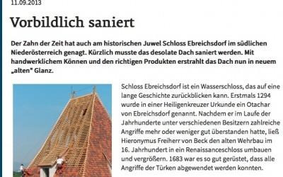 Vorbildlich saniert – Schloss Ebreichsdorf