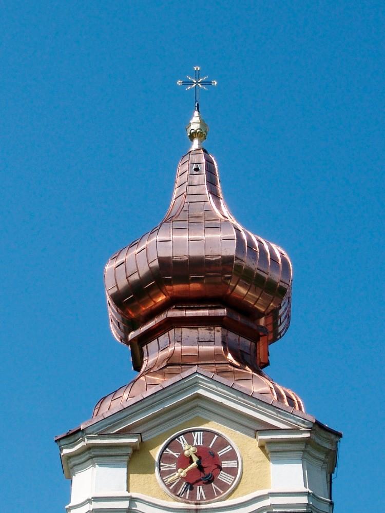 kath. Pfarrkirche Hagenberg Kupfereindeckung
