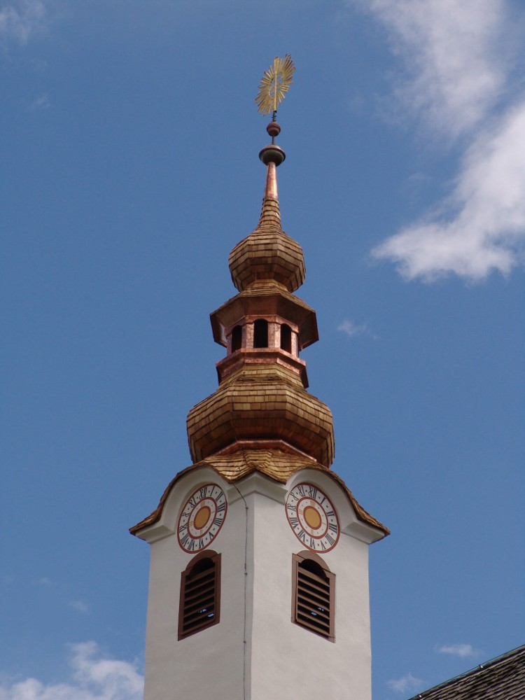 kath. Pfarrkirche Maria Wörth Holzschindeleindeckung