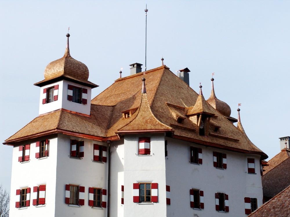 Schloss Kaps Holzschindeleindeckung