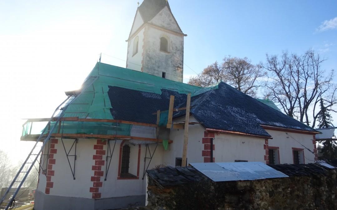 kath. Pfarrkirche Ottmanach Neueindeckung