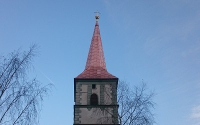 Neueindeckung Turm kath. Pfarrkirche Eisenkappel