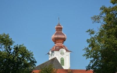 Neueindeckung in Kupfer kath. Pfarrkirche Weibern